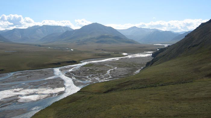 The expansive valley of the Aichilik meanders through the northern foothills of the Brooks Range. Photo Nan Eagleson.