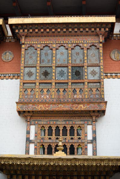 The inner court yard of the Punakha Dzong.