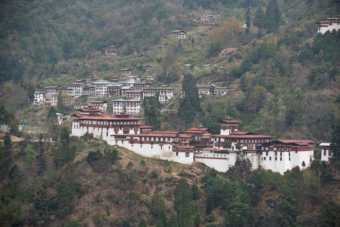 The Trongsa Dzong.