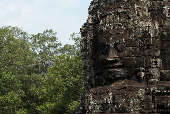 The temple of Bayon in the Angkor Wat complex. Photo Aaron Lang.