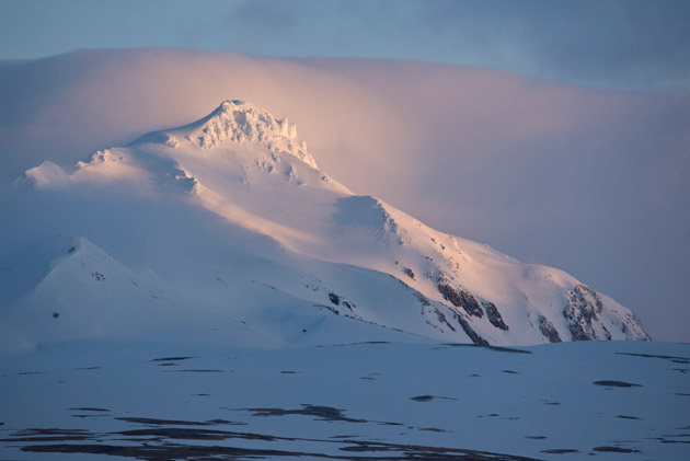 We never saw the entire mountain, but on a couple days most of Mount Moffitt, Adak's tallest peak, was visible.