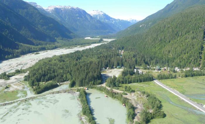 Hyder, Alaska from the air. Photo Steve Heinl.
